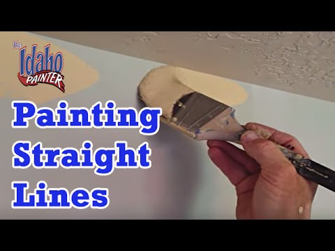CUTTING CEILINGS.  DIY How To Paint A Straight Ceiling Line.